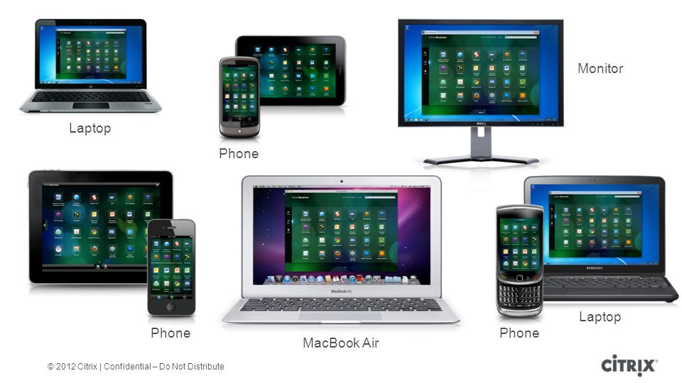 © 2012 Citrix | Confidential – Do Not Distribute MacBook Air Phone Monitor Laptop