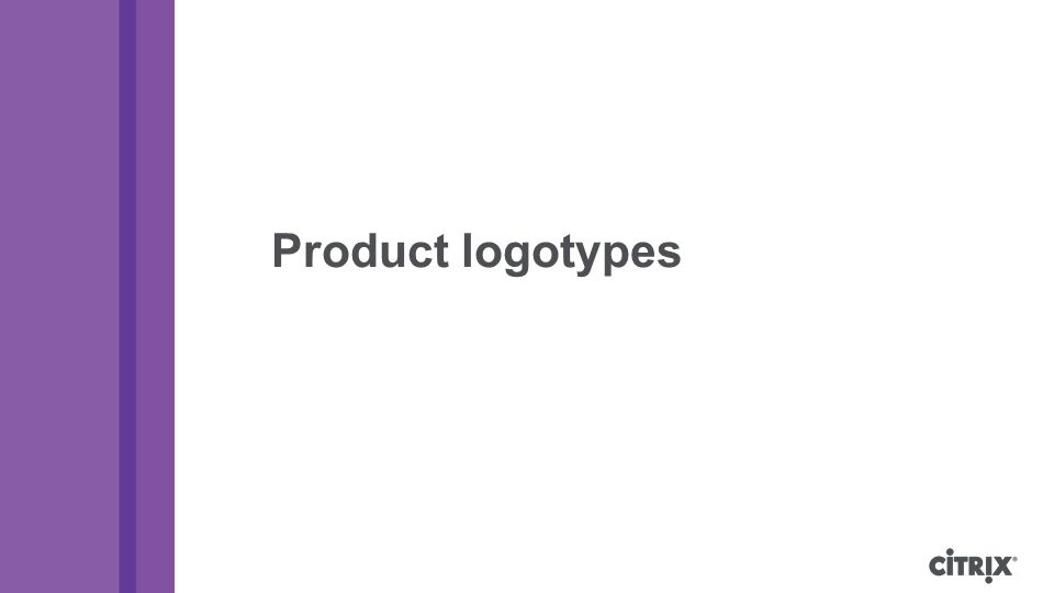 Product logotypes