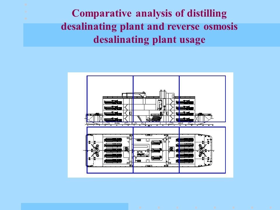 Comparative analysis of distilling desalinating plant and reverse osmosis desalinating plant usage