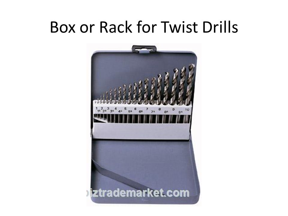 Box or Rack for Twist Drills
