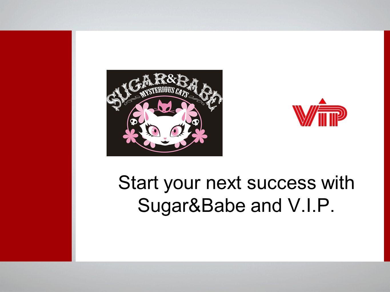 Start your next success with Sugar&Babe and V.I.P.