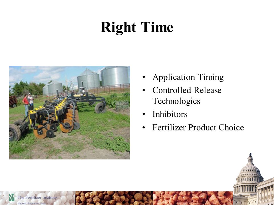 Right Time Application Timing Controlled Release Technologies Inhibitors Fertilizer Product Choice