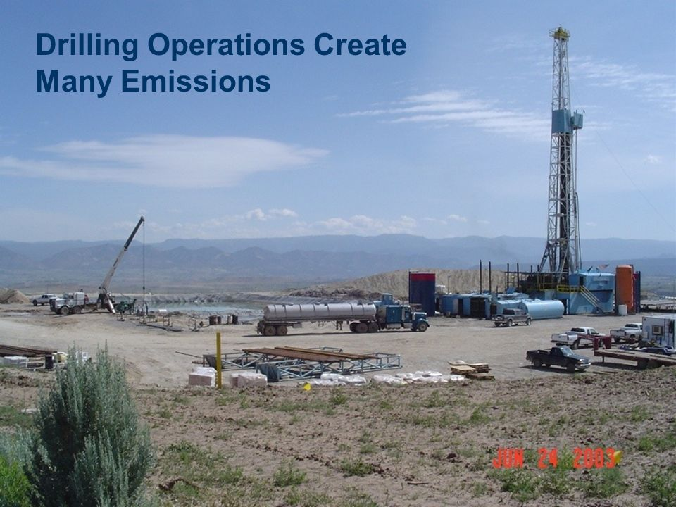Drilling Operations Create Many Emissions