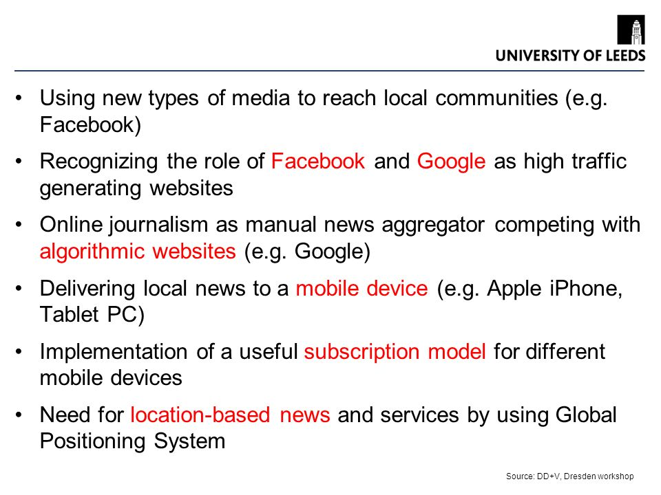 Leeds University Business School Using new types of media to reach local communities (e.g.