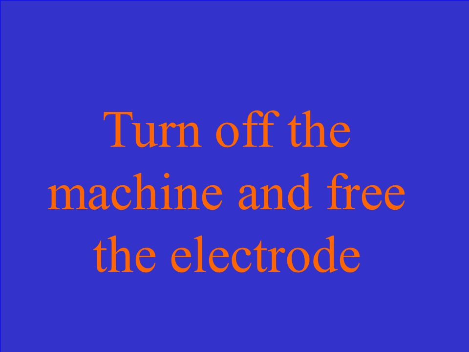 What should you do if the electrode freezes