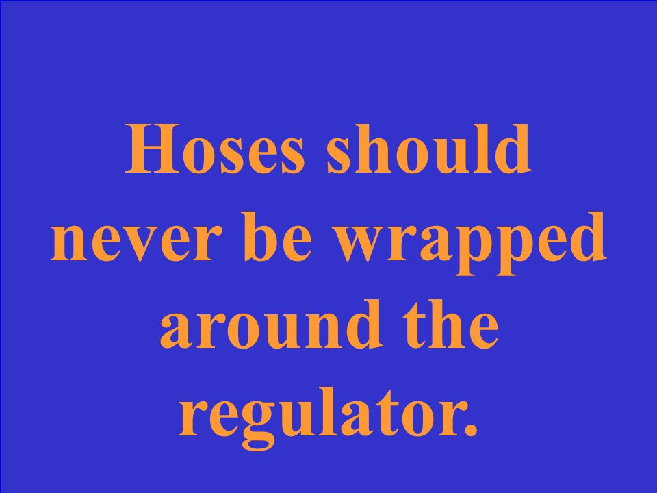 Hoses should never be _____________.
