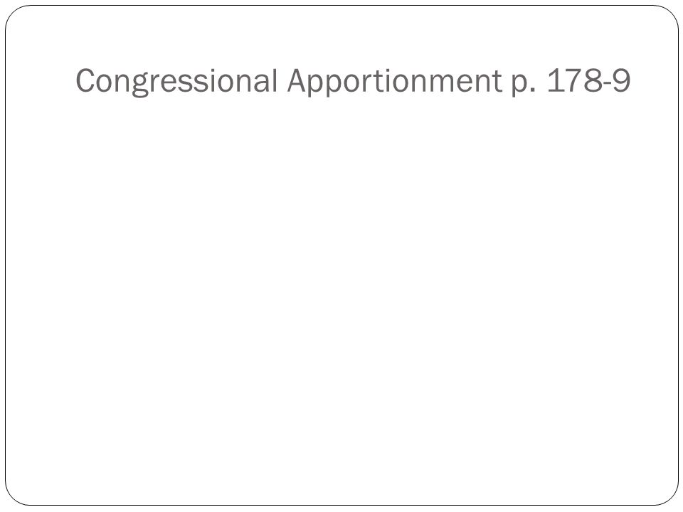 Congressional Apportionment p