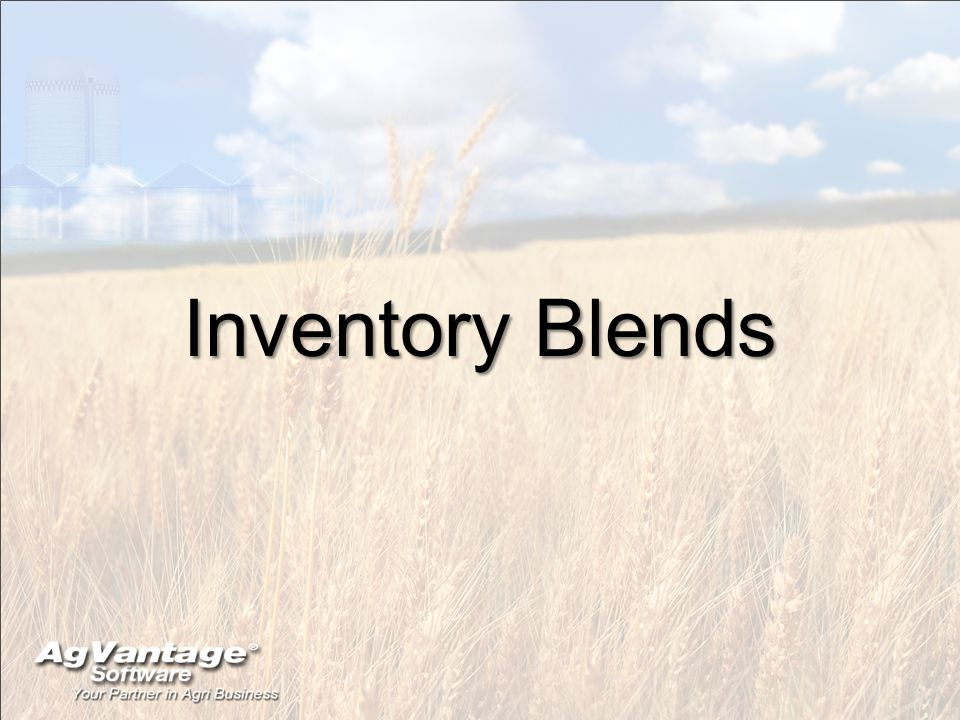 Inventory Blends