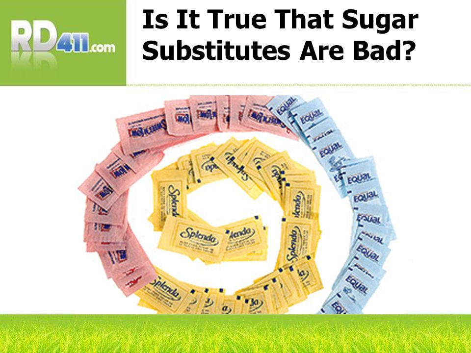 Is It True That Sugar Substitutes Are Bad