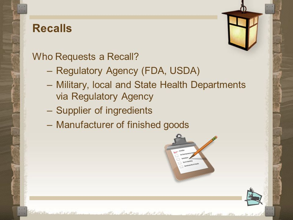 Recalls Who Requests a Recall.