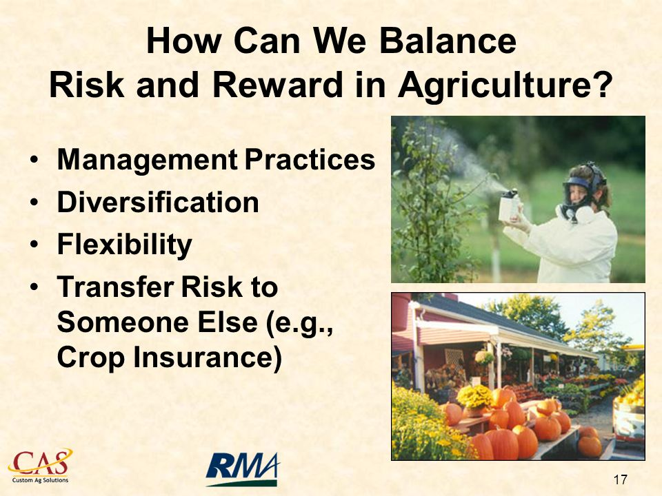17 How Can We Balance Risk and Reward in Agriculture.