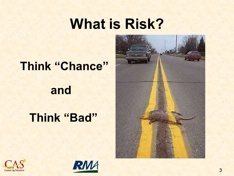 33 Think Chance Think Bad and What is Risk