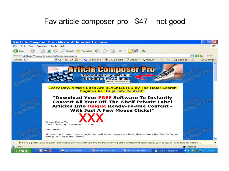 Fav article composer pro - $47 – not good xxx
