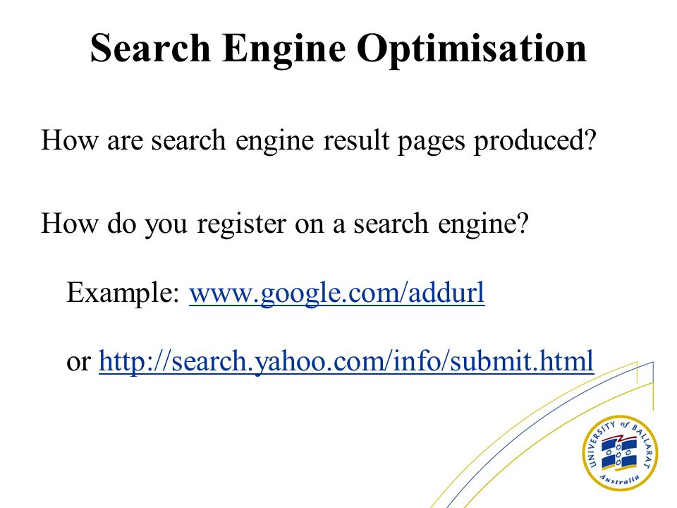 Search Engine Optimisation How are search engine result pages produced.