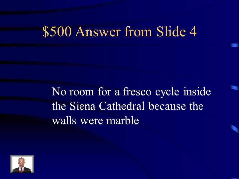 $500 Question from Slide 4 Why was the Maesta Panel So Large