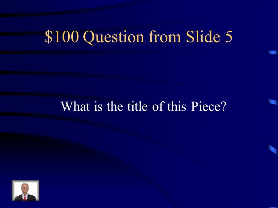 $600 Answer from Slide 4 Two sided containing the life of Christ and the Life of the Virgin Includes the patron saints of Siena Considered the most important panel painted in Italy