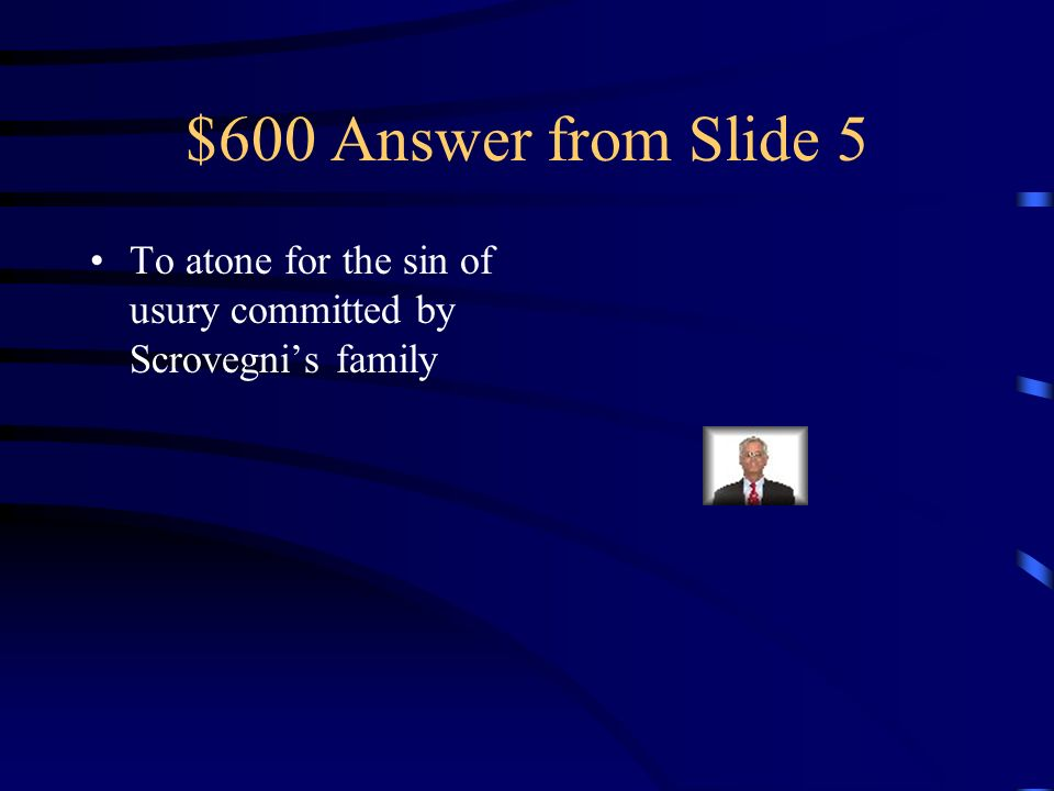 $600 Question from Slide 5 Why was it built