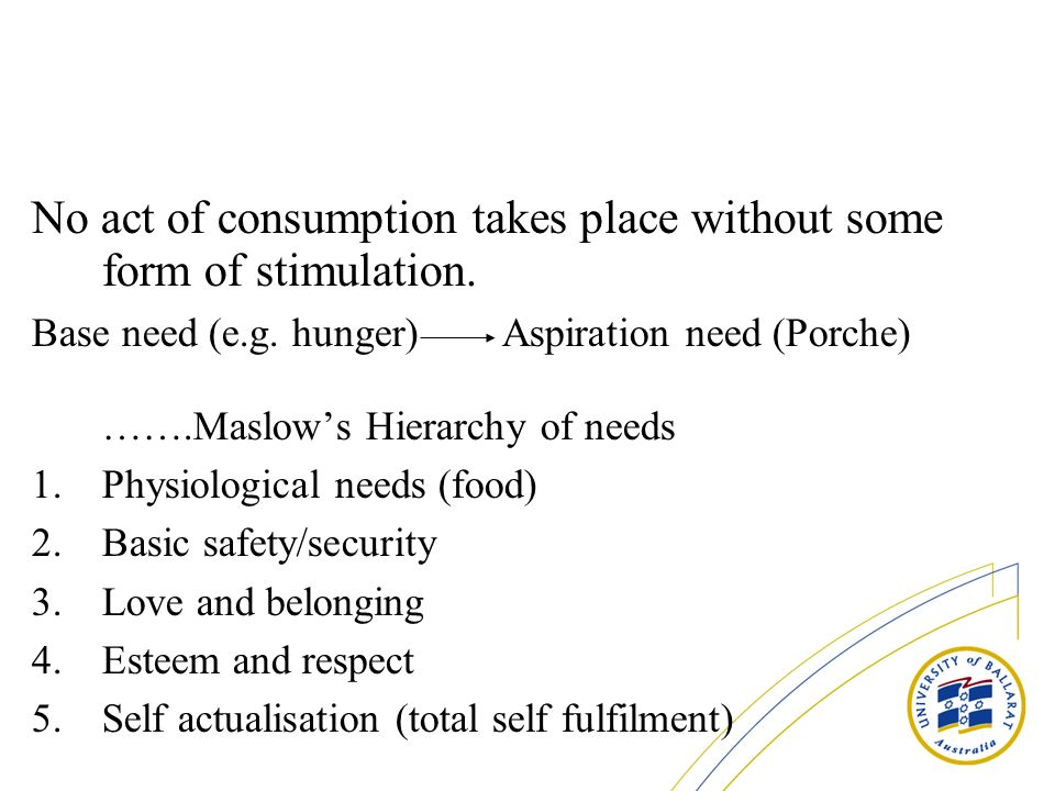 No act of consumption takes place without some form of stimulation.