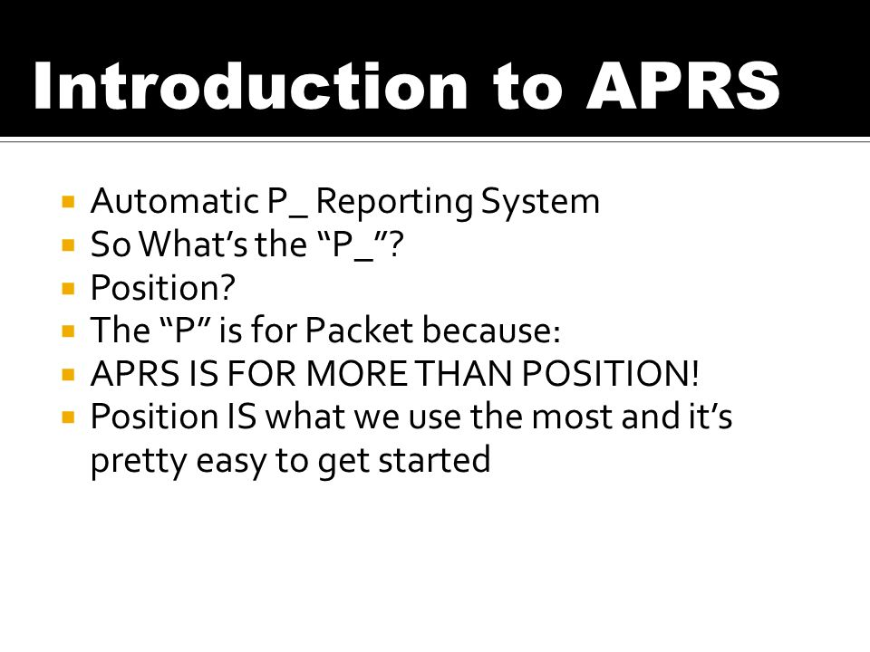 Automatic P_ Reporting System So Whats the P_. Position.