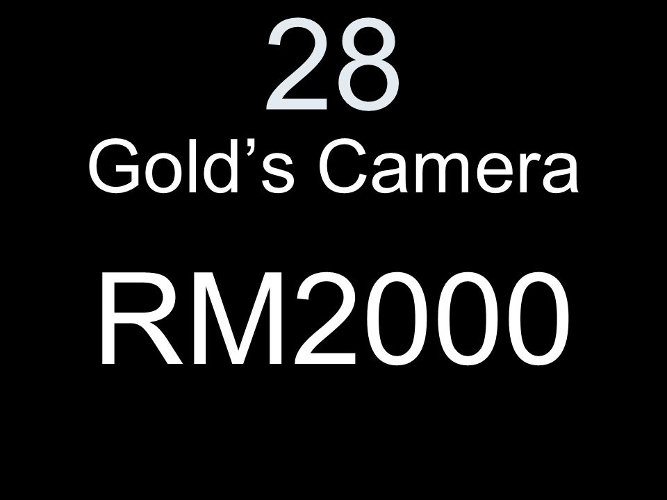 28 Golds Camera RM2000