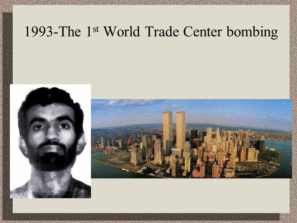 1993-The 1 st World Trade Center bombing