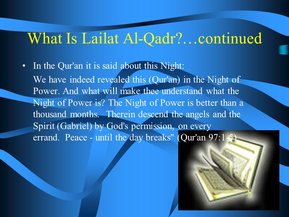 What Is Lailat Al-Qadr.