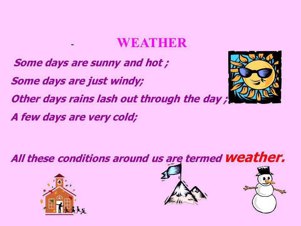 WEATHER AND SEASON Mrs.S.Bandopadhyay & Mrs. G. Mukhopadhyay & Mrs. S. Pandey