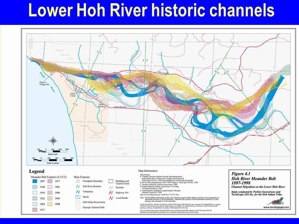 Lower Hoh River historic channels