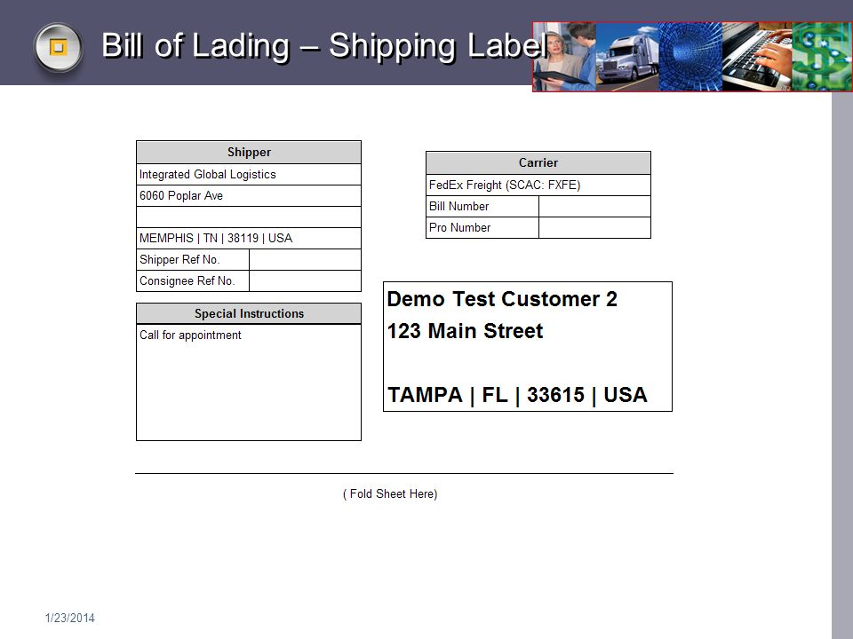 1/23/2014 Bill of Lading – Shipping Label