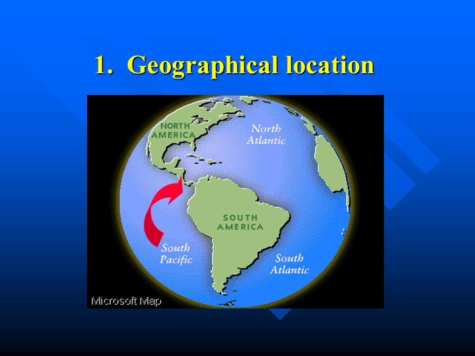 1. Geographical location