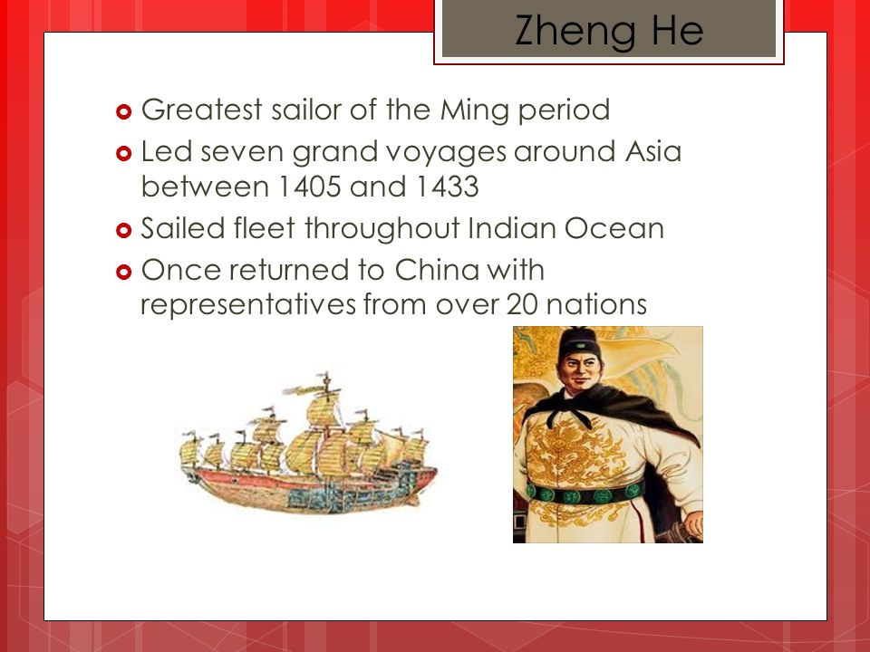 Ming Dynasty Led by Zhu Yuanzhang Lasted 1368-1644 One of the most stable and prosperous times in Chinas history Expanded Chinas fame overseas Sponsored incredible building projects over China