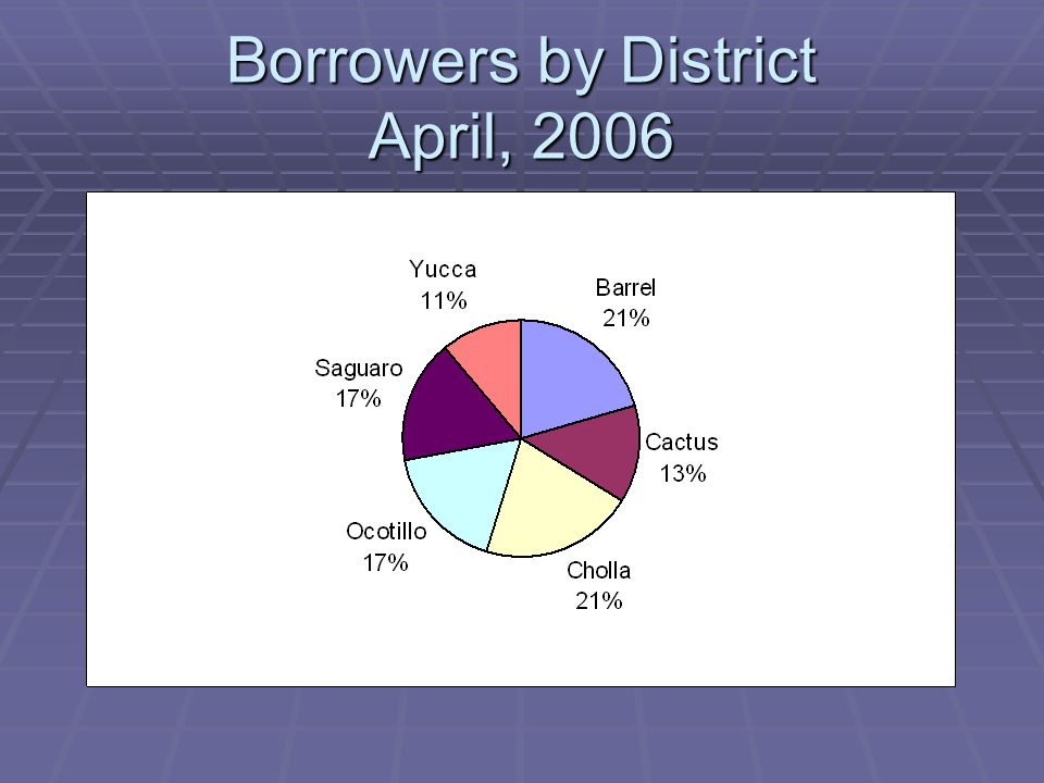 Borrowers by District April, 2006