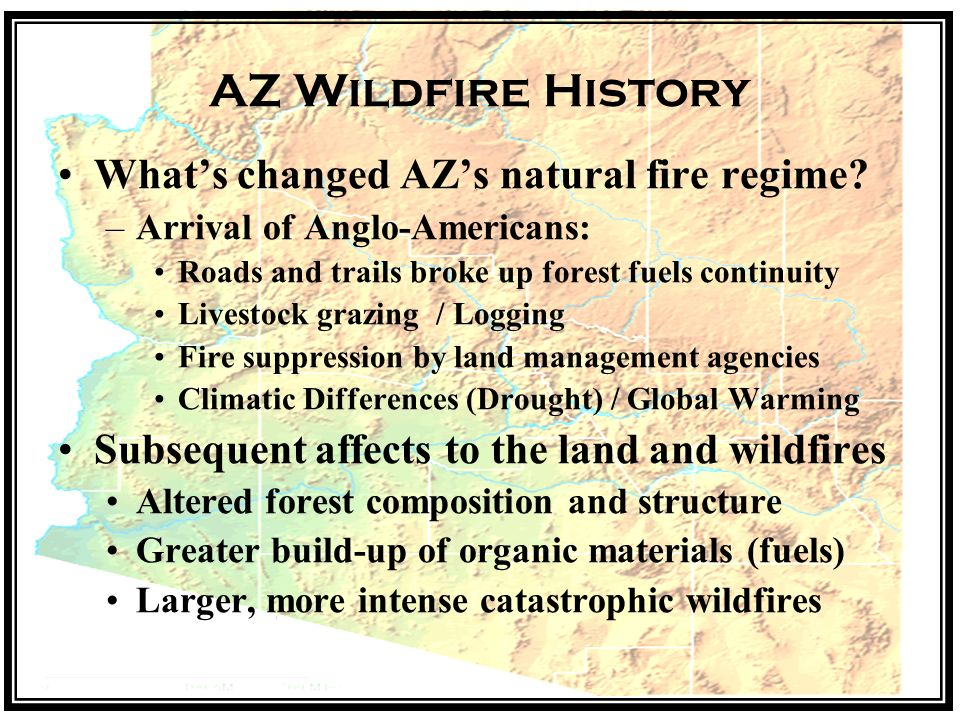 AZ Wildfire History Whats changed AZs natural fire regime.
