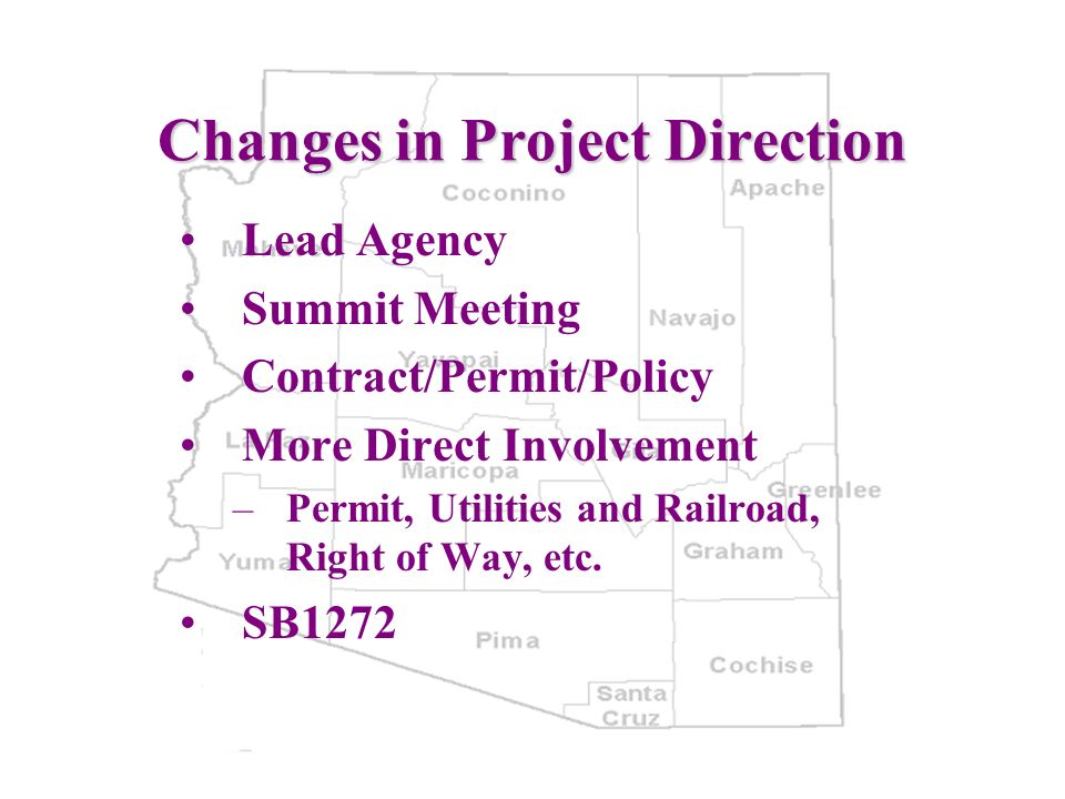 Changes in Project Direction