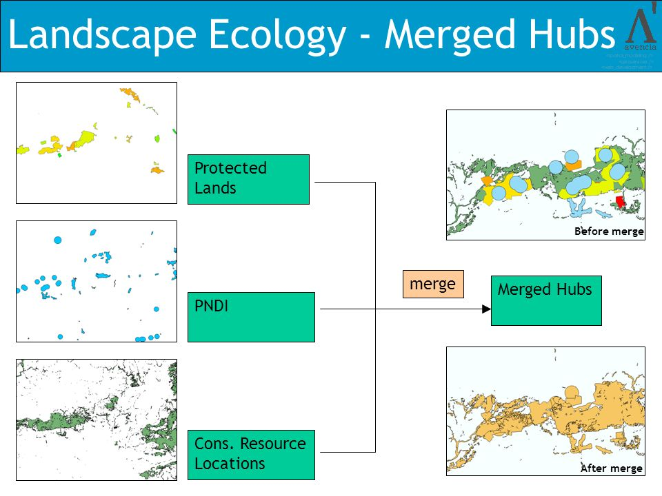 Landscape Ecology - Merged Hubs Protected Lands PNDI Cons.