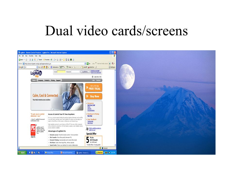 Dual video cards/screens