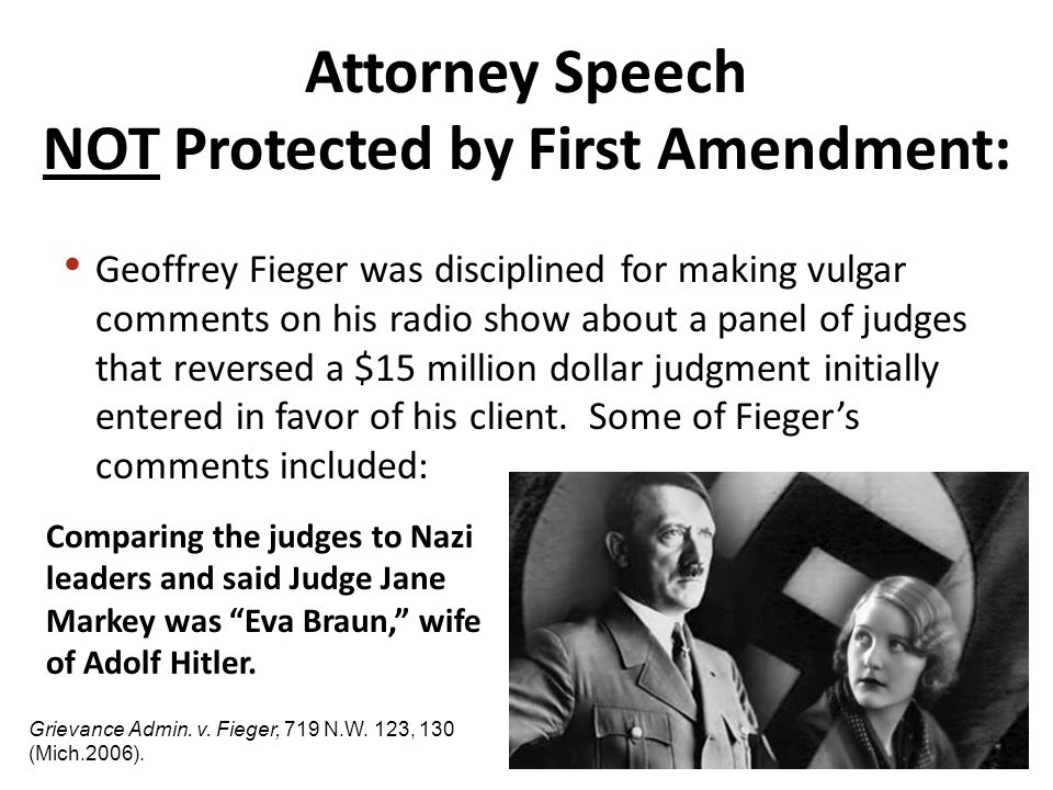 Comparing the judges to Nazi leaders and said Judge Jane Markey was Eva Braun, wife of Adolf Hitler.