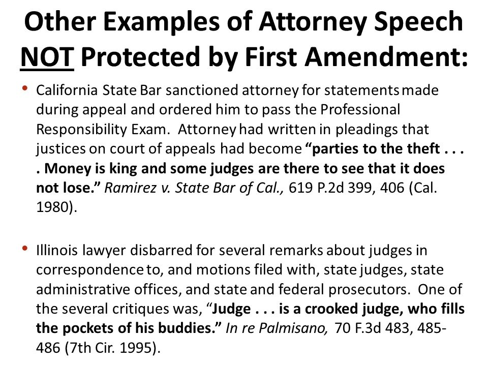 California State Bar sanctioned attorney for statements made during appeal and ordered him to pass the Professional Responsibility Exam.