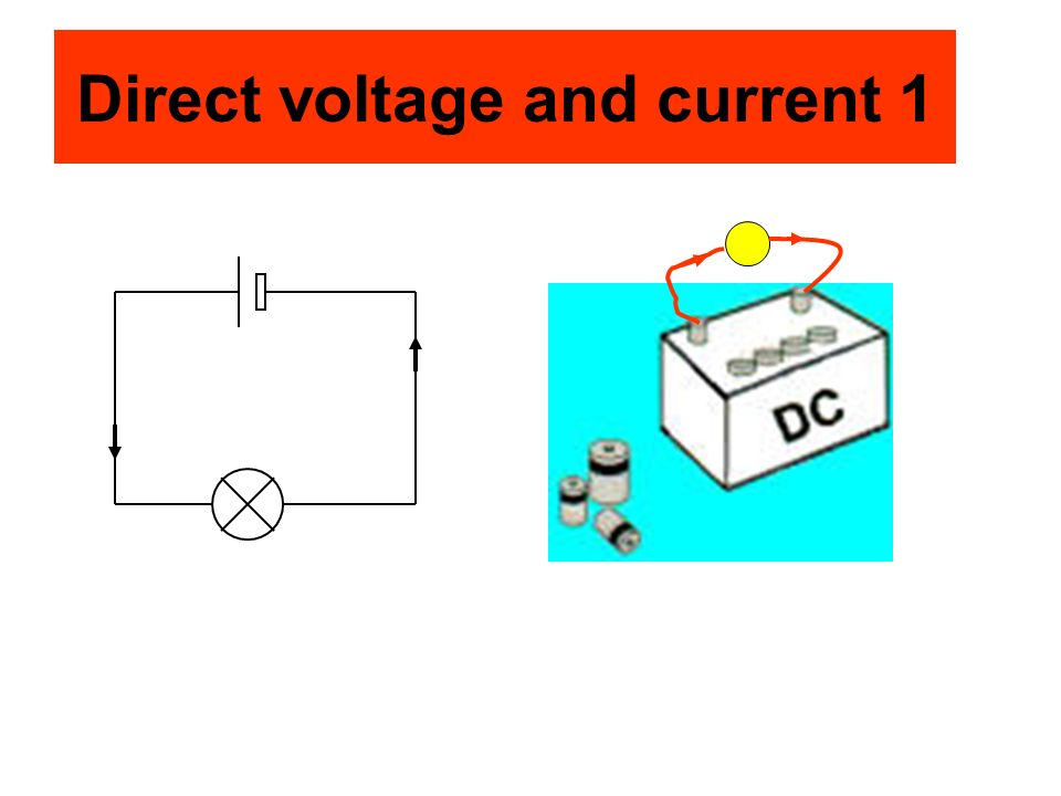 Direct voltage and current 1