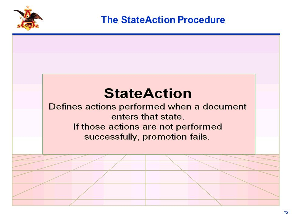 12 The StateAction Procedure