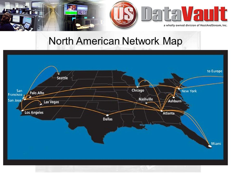North American Network Map