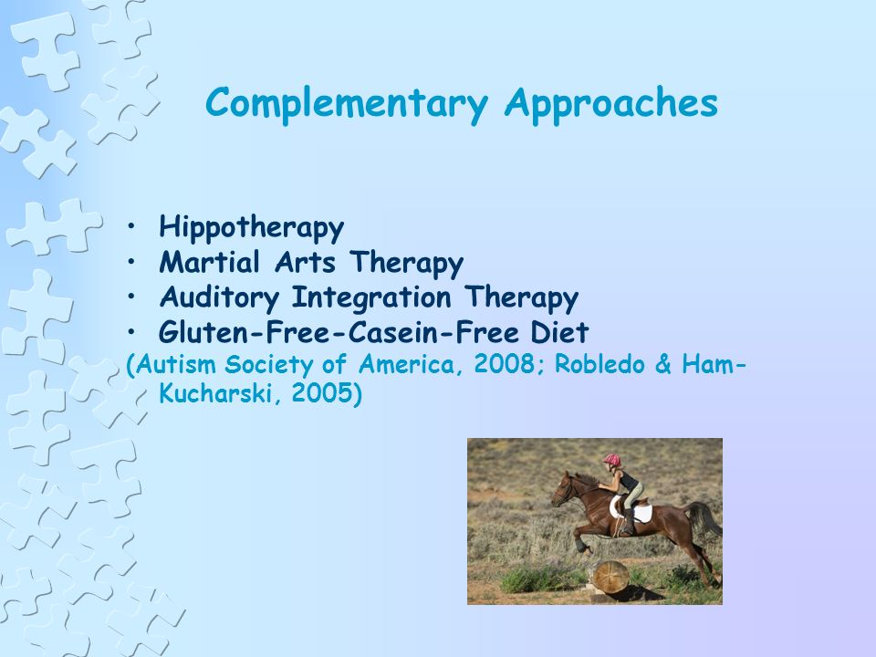 Treatment Approaches or Strategies (cont.) Sensory Integration Social Stories Pivotal Response Treatment Facilitated Communication (FC) Relationship Development Intervention (RDI) (Autism Society of America, 2008; Robledo & Ham- Kucharski, 2005)