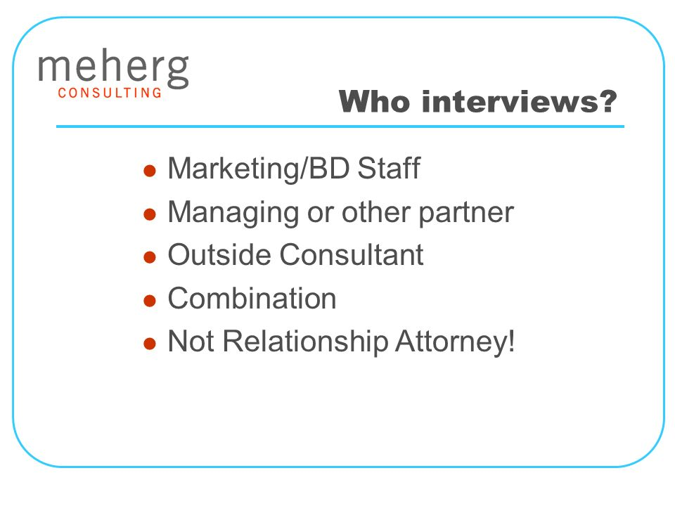 Who interviews.