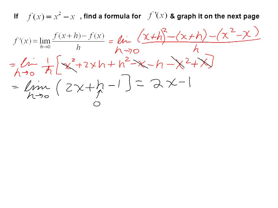 If, find a formula for & graph it on the next page