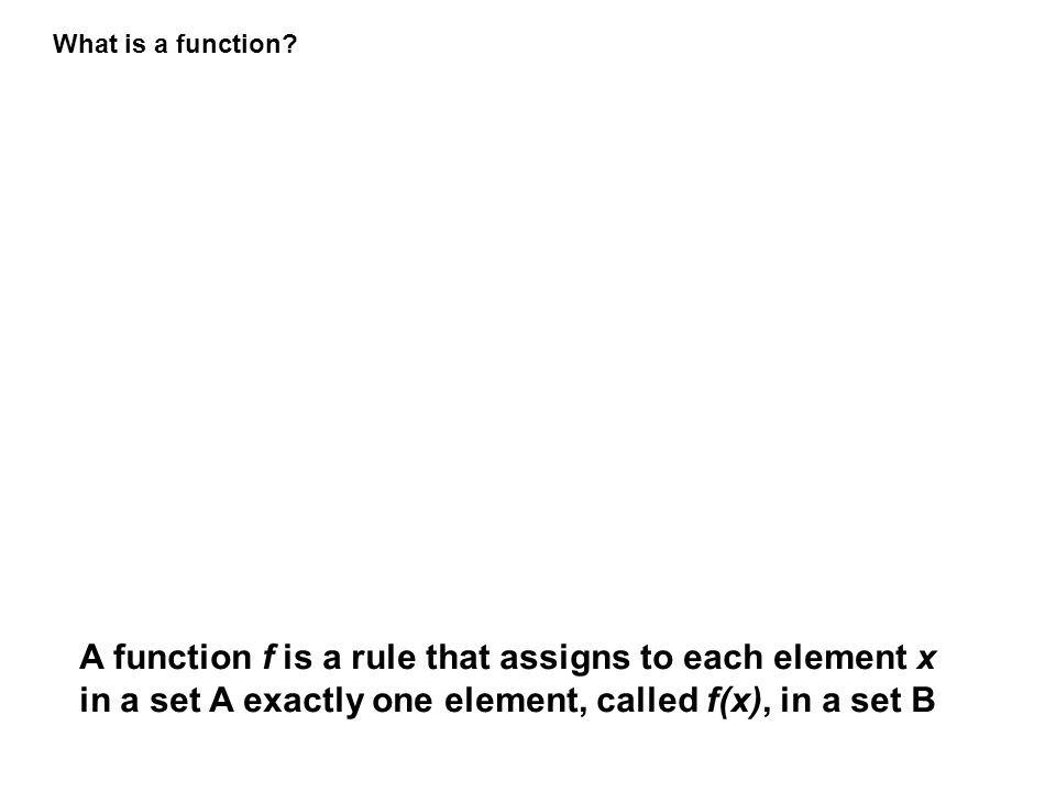 What is a function.