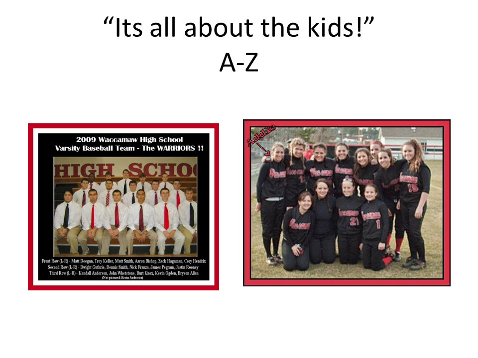 Its all about the kids! A-Z