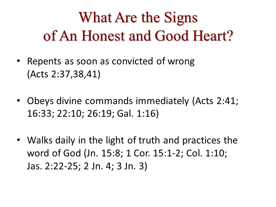 What Are the Signs of An Honest and Good Heart.