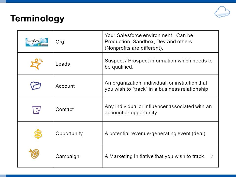 Terminology Org Your Salesforce environment.