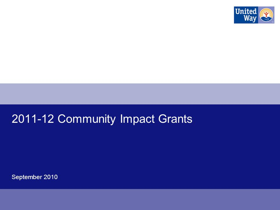 Community Impact Grants September 2010