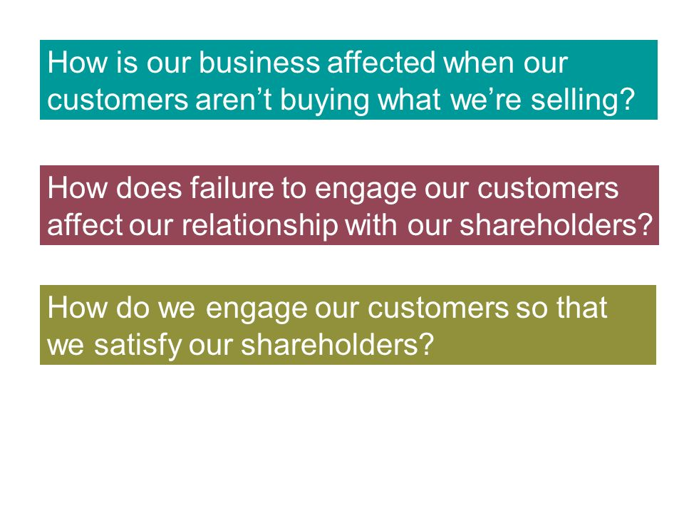 How is our business affected when our customers arent buying what were selling.
